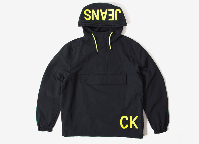 Calvin Klein Statement Logo Pullover Jacket - CK Black/Safety Yellow