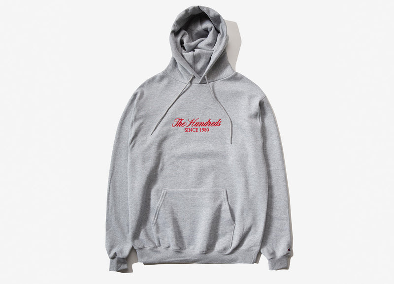 The Hundreds Rich Embroidery Pullover Hoody - Oxford Grey