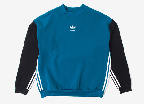 adidas Originals Auth Stripe Crewneck Sweatshirt - Reate/Black