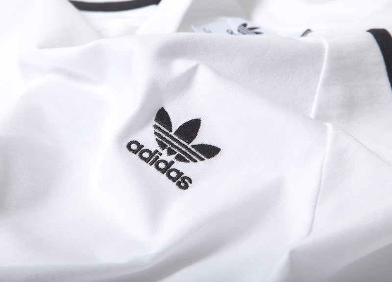 adidas Originals 3-Stripes Long Sleeve T Shirt - White
