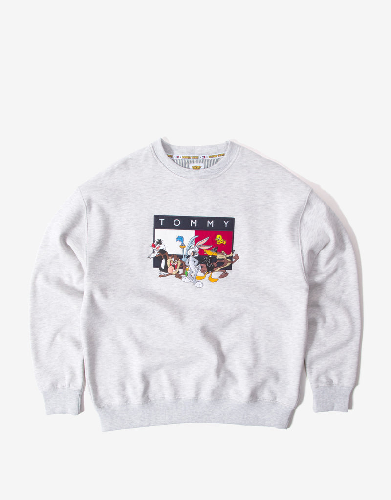 Tommy Jeans x Looney Tunes Embroidered Crewneck - Grey