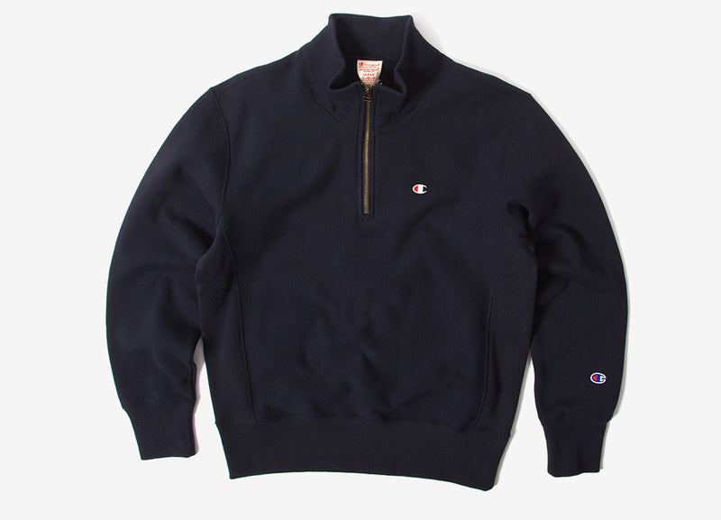 Champion Reverse Weave 1/2 Zip Sweatshirt - Navy