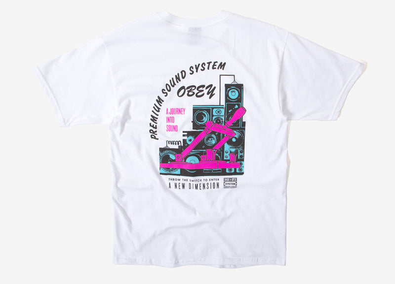 Obey Soundsystem T Shirt - White