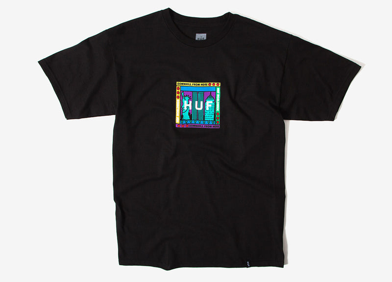 HUF Gift Shop Box Logo T Shirt - Black