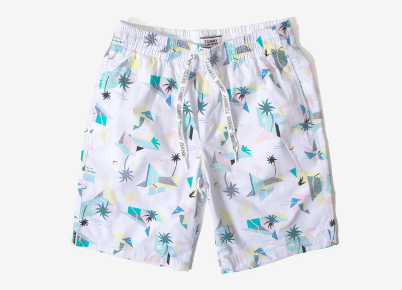 Tommy Jeans Surf Shorts - White/Multi