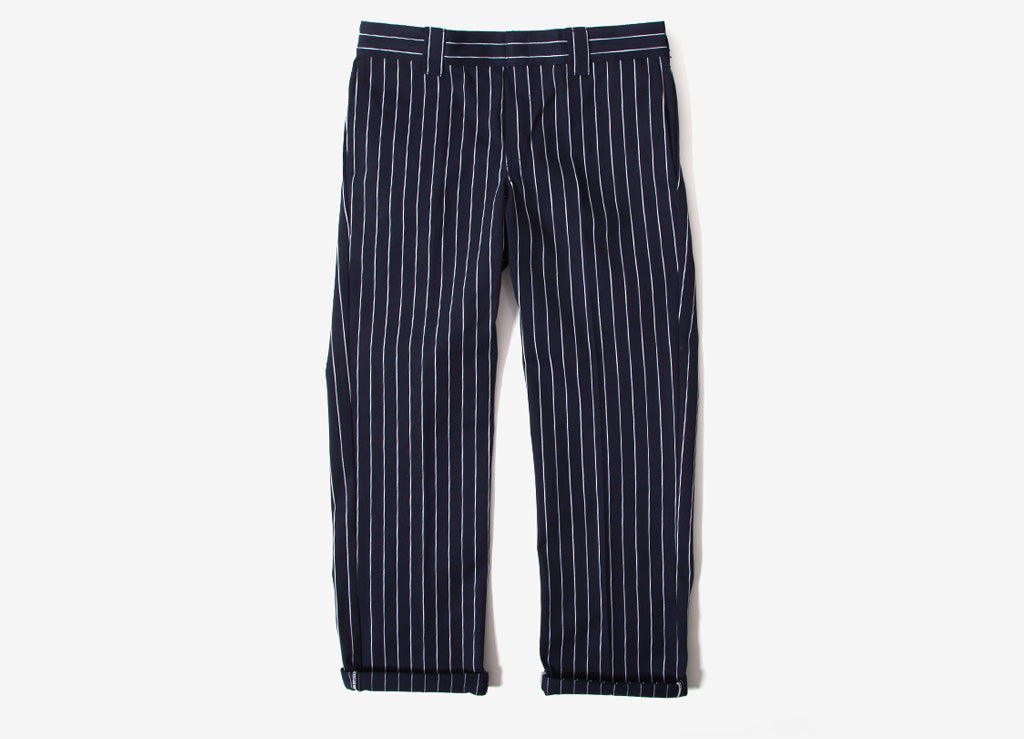 Dickies 873 Striped Work Pant Trousers - Navy