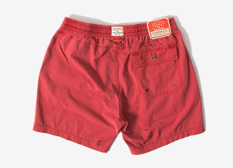 Deus Ex Machina Sandbar Solid Garment Dye Shorts - Red Clay