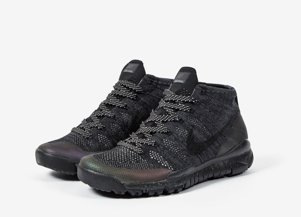 Nike Flyknit Trainer Chukka FSB Shoes - Black/Black-Anthracite