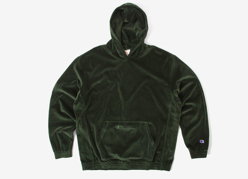 Champion Reverse Weave Oversized Pullover Hoody - Green
