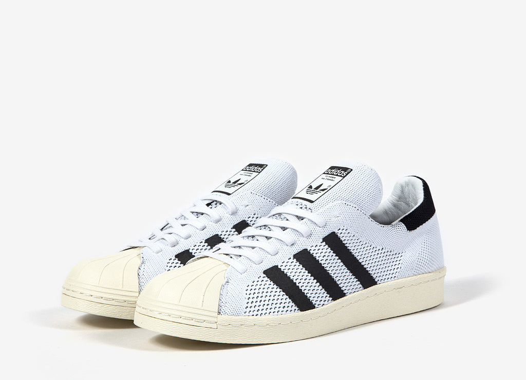 adidas Originals Superstar 80s Primeknit Shoes - White/White