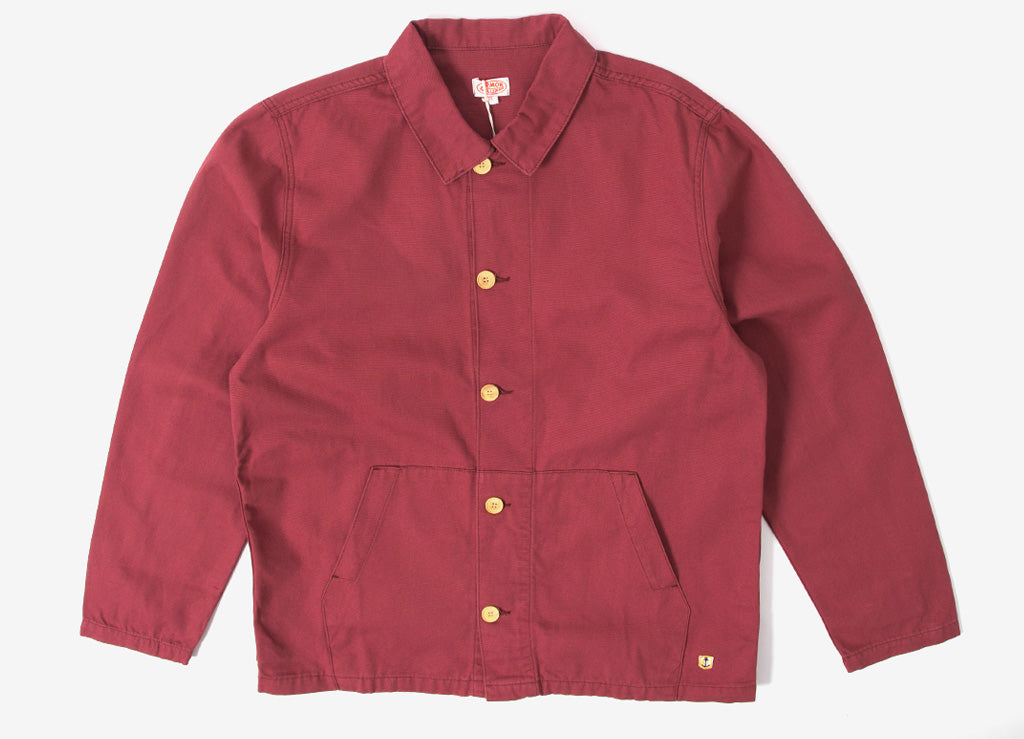 Armor Lux Fisherman Chore Coat Jacket - Red Manganese