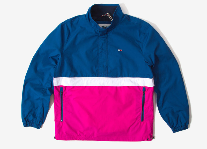 Tommy Jeans Lightweight Colorblock Popover Jacket - Limoges/Multi