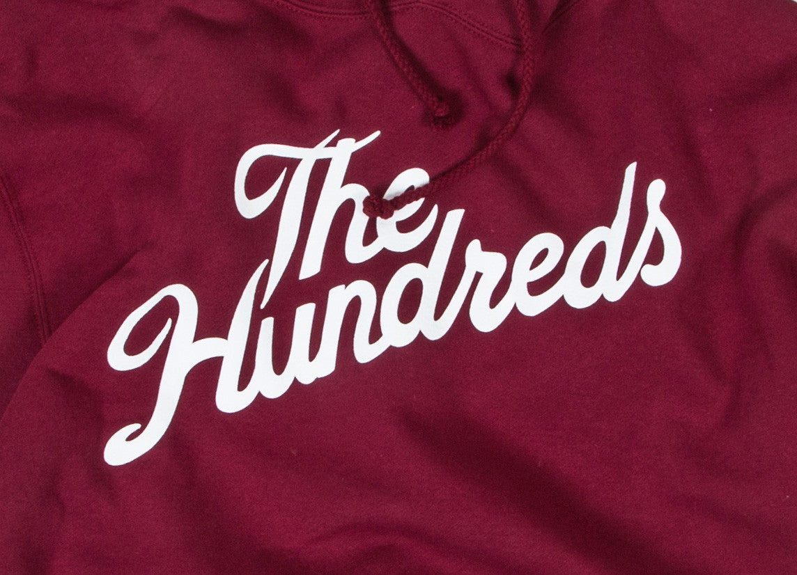 The Hundreds Forever Slant Pullover Hoody - Cardinal
