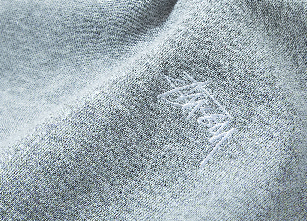 Stussy Back Arc Crewneck Sweatshirt - Heather Grey