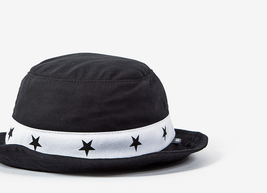 HUF 5 Star Bucket Hat - Black