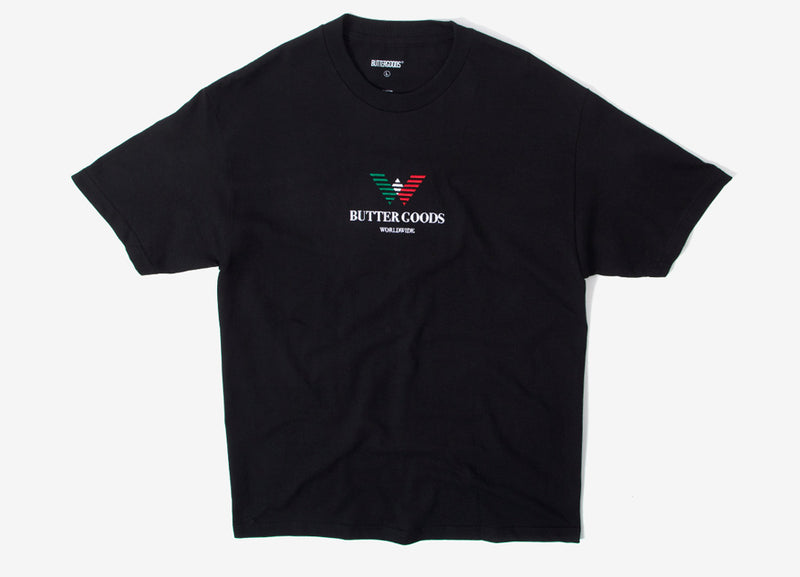 Butter Goods Emporio Embroidered T Shirt - Black