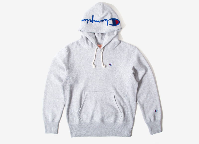 Champion Reverse Weave Embroidered Pullover Hoody - Heather Grey