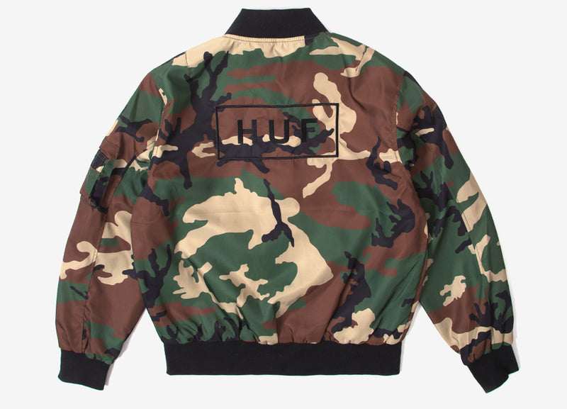 HUF Standard Issue MA-1 Jacket - Woodland Camo