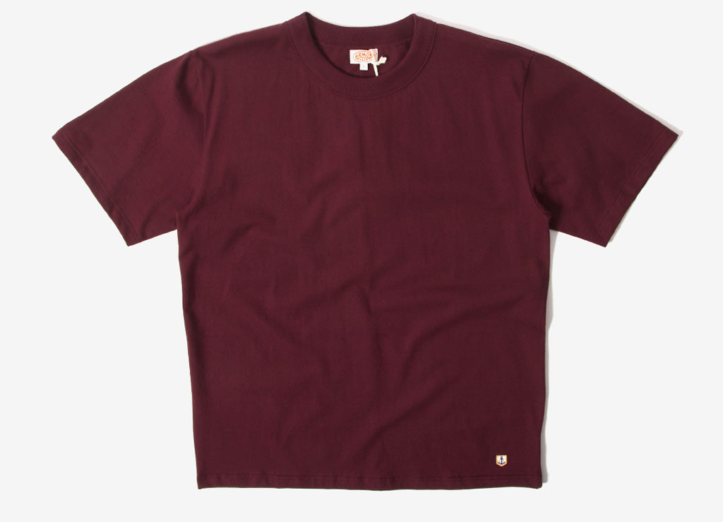 Armor Lux Callac Basic T Shirt - Chianti Dark Red