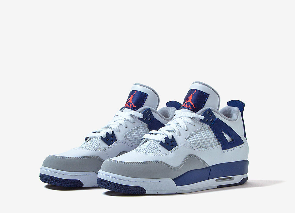 Nike Air Jordan 4 GG - White/Blue/Orange