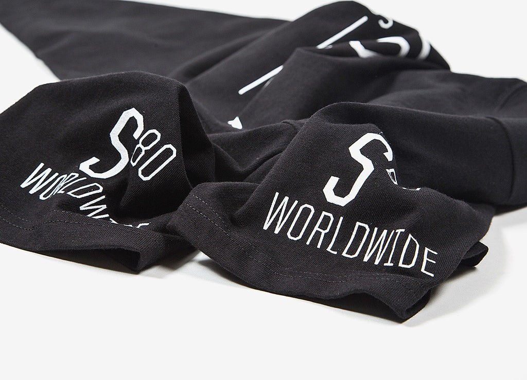 Stussy S80 Worldiwde T Shirt - Black