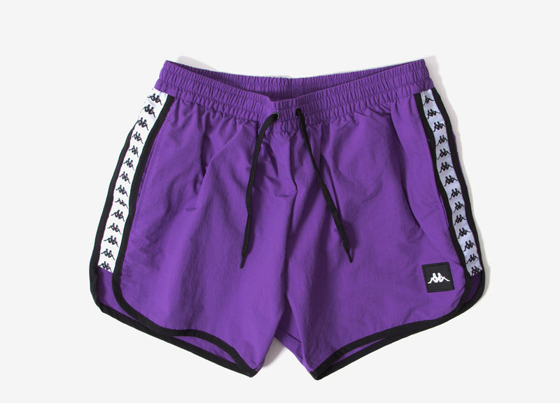 Kappa Authentic Agius Shorts - Violet/Pansy/White/Black