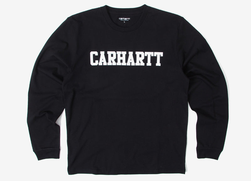 Carhartt L/S College T Shirt - Black/White