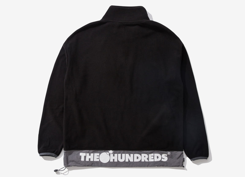 The Hundreds Sonder Half Zip Fleece - Black