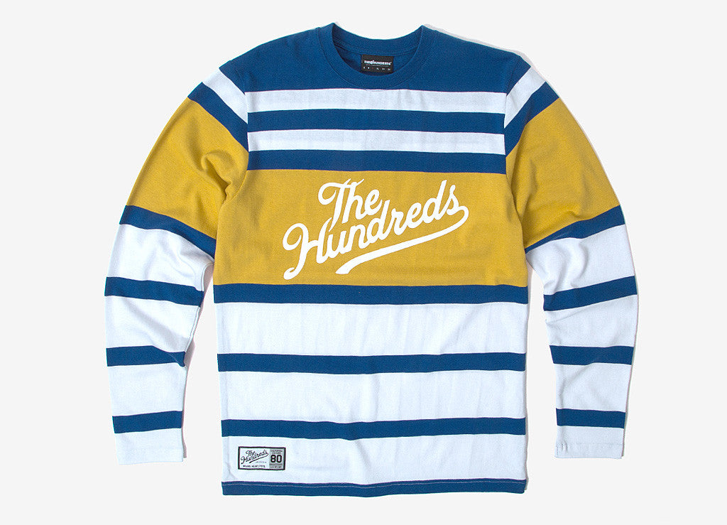 The Hundreds Town LS Stripe T Shirt - Blue