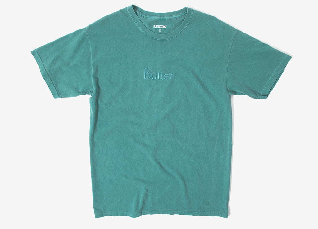 Butter Goods Tonal Embroidered Classic Logo T-Shirt - Willow