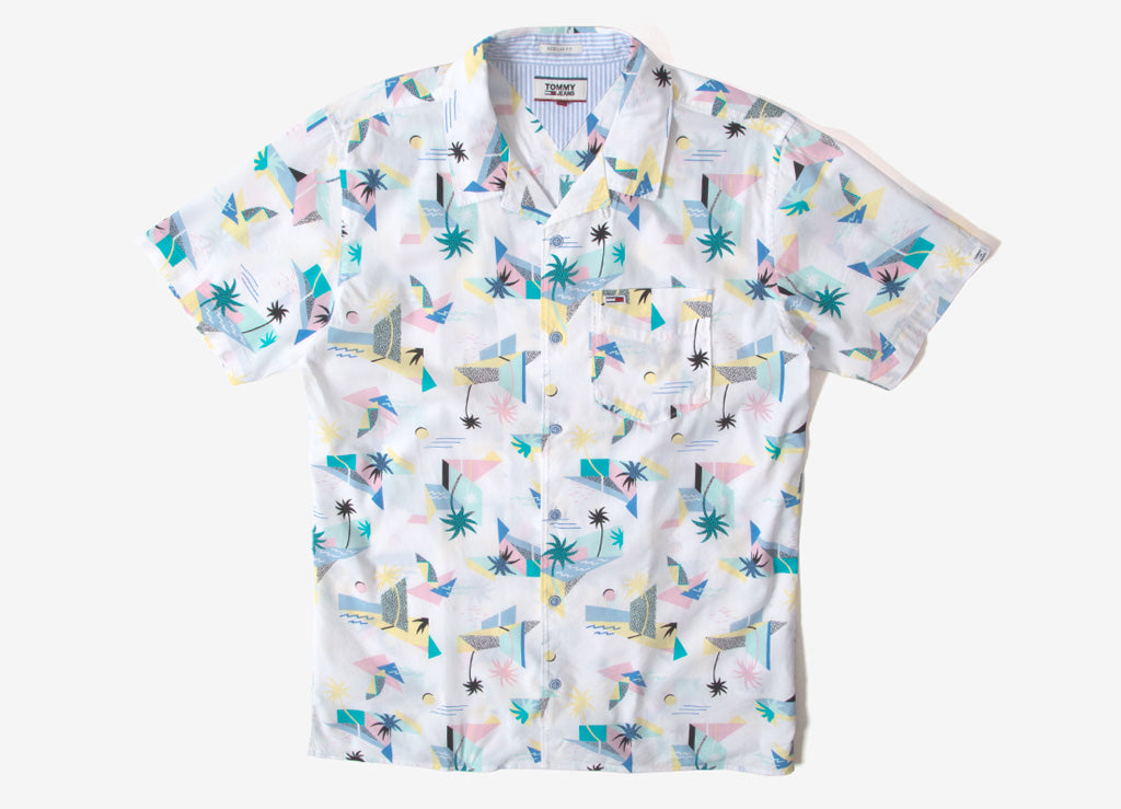 Tommy Jeans Surf Shirt - White/Multi