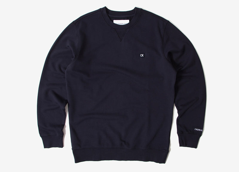 Calvin Klein CK Badge Crewneck Sweatshirt - Night Sky