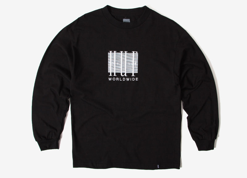 HUF Linear Long Sleeve T Shirt - Black