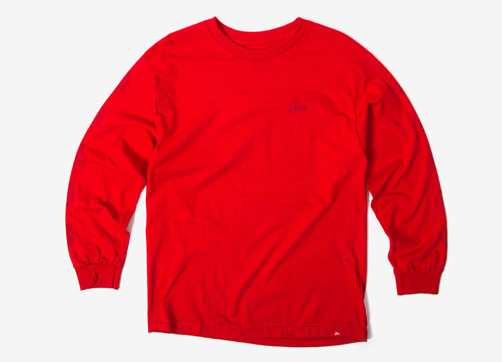 CLSC Rose LS T Shirt - Red