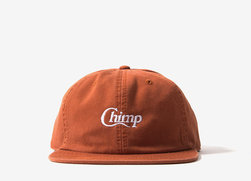 Chimp Motif Polo Cap - Rust