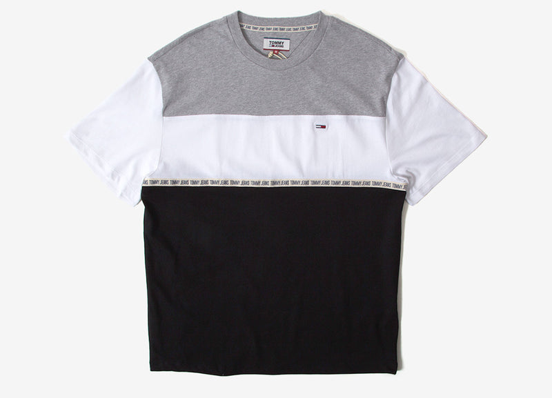 Tommy Jeans Colorblocked Tape T-Shirt - Grey Heather