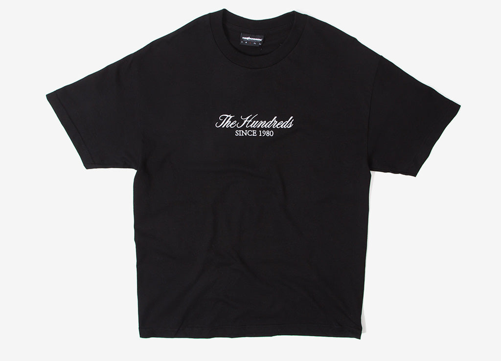 The Hundreds Rich Embroidery T Shirt - Black