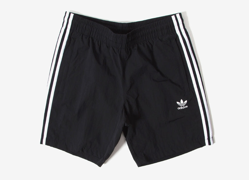 adidas Originals 3 Stripes Swim Shorts - Black
