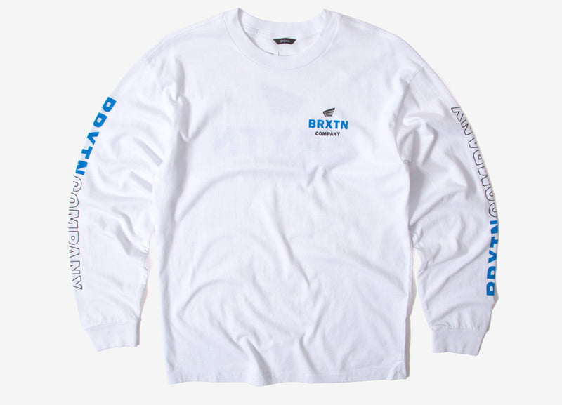 Brixton Peabody II Long Sleeve T Shirt - White
