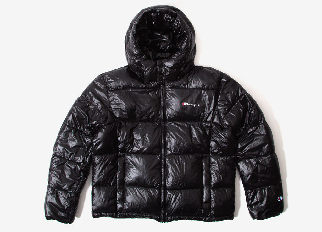 Champion Hooded Puffer Jacket - Black