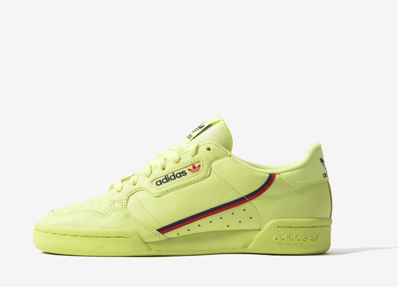 adidas Originals Continental 80 Shoes - Semi Frozen Yellow/Scarlett/Collegiate Navy