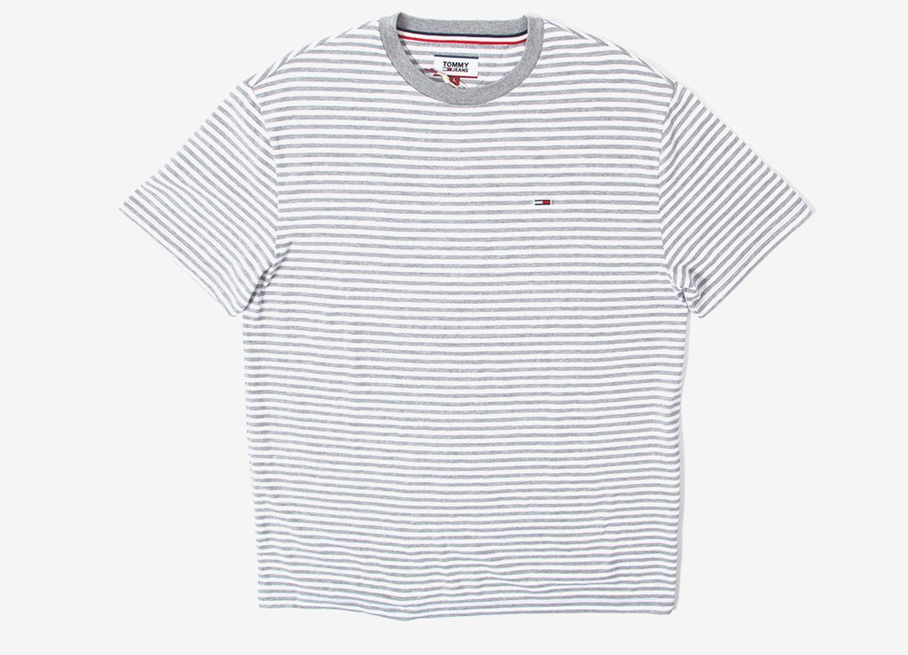 Tommy Jeans Classic Stripe T Shirt - Light Heather Grey