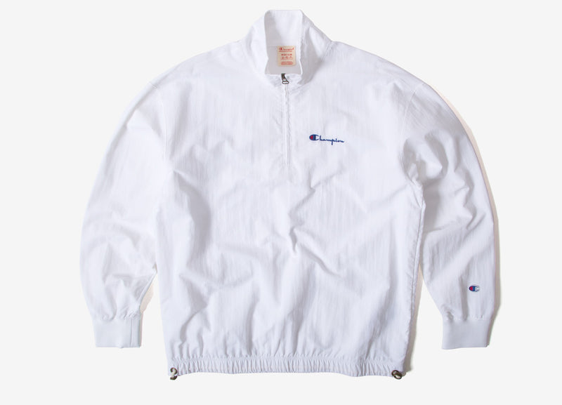 Champion Peached Feel Crinkle Half Zip Top - White