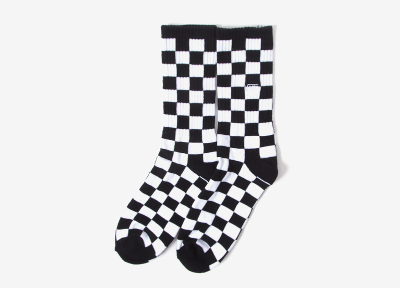 Vans Checkerboard II Crew Socks (1 Pack) - Black/White