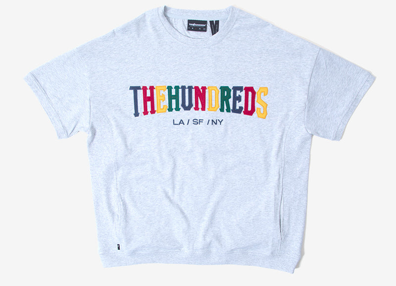 The Hundreds Varsity Crewneck Sweatshirt - Ash Heather