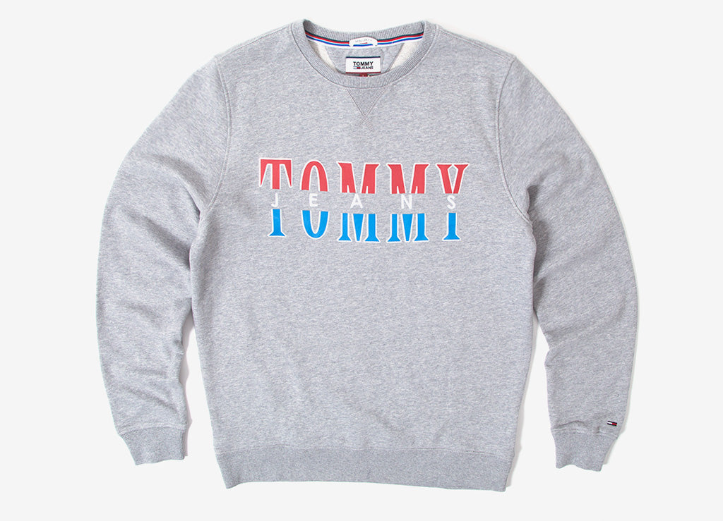 Tommy Jeans Essential Graphic Sweatshirt - Light Heather Grey