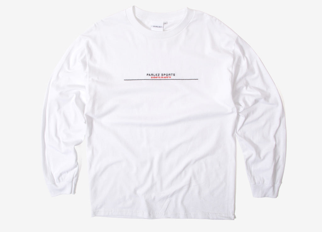 Parlez Bar Long Sleeve T Shirt - White