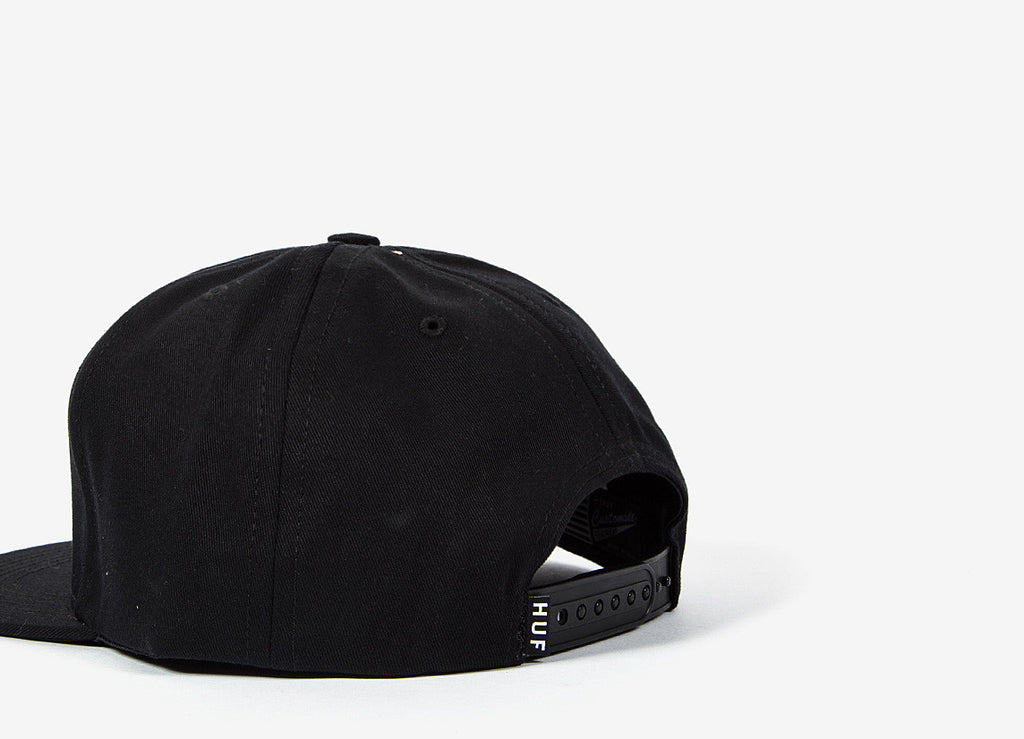 HUF Box Logo Snapback Cap - Black (HOLIDAY RESTOCK)