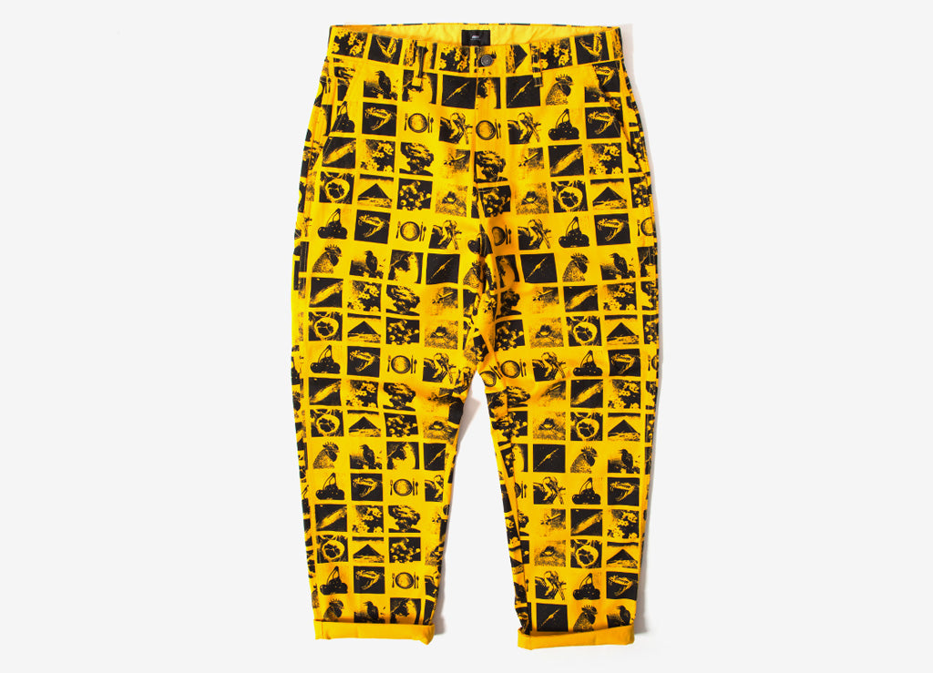 Obey Chaos Easy Pant - Zine Energy Yellow