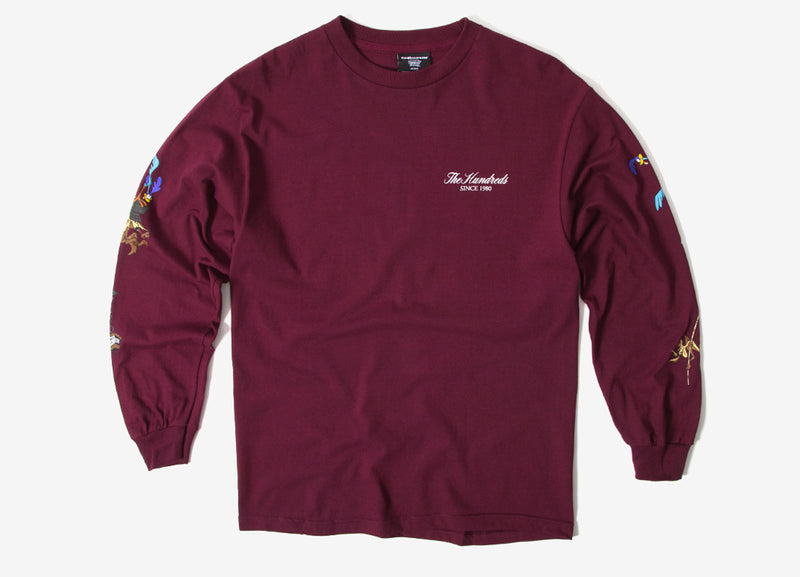 The Hundreds x Looney Tunes Acme TNT LS T Shirt - Burgundy